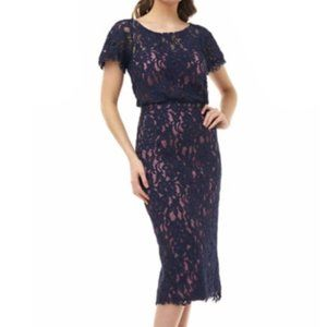 JS Collections Embroidered Lace Dress 4